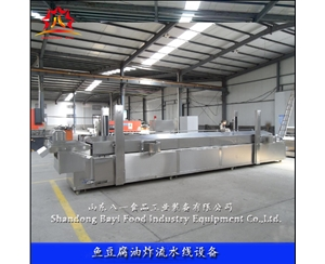 Continuous frying machine for Meatball