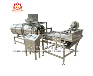 Conveying roller mixing machine