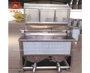 stainless steel 304 gas potato chips batch frying machine